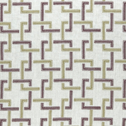 Amara Collection - Sekai Orchid/Willow Fabric by Clarke & Clarke - Decor Rooms