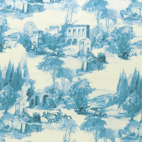 Colony collection - Anastacia Delft Fabric by Clarke & Clarke - Decor Rooms