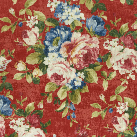 Colony Collection - Emeline Rouge Fabric by Clarke & Clarke - Decor Rooms