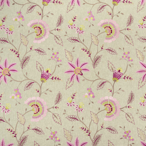 Delamere Raspberry Fabric by Clarke & Clarke - Decor Rooms