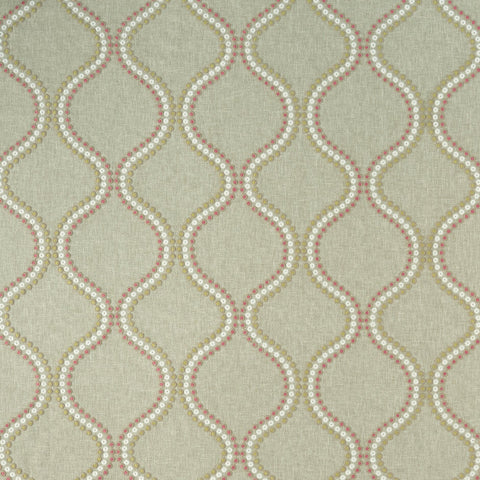 Layton Pink/Apple Fabric Clarke & Clarke - Decor Rooms