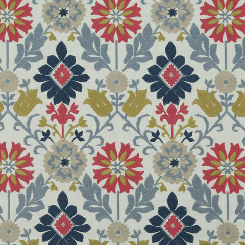 Augustina Multi Fabric by Clarke & Clarke - Decor Rooms