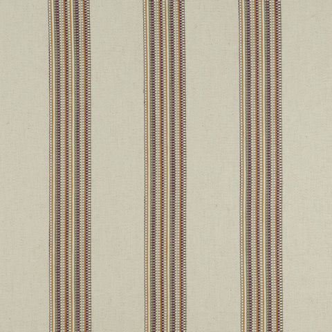 Boho Stripe Duckegg/Blush Fabric by Clarke & Clarke - Decor Rooms