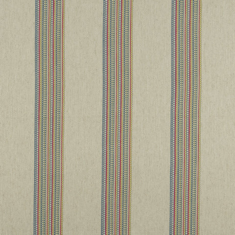 Boho Stripe Multi Fabric by Clarke & Clarke - Decor Rooms