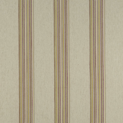 Boho Stripe Raspberry/Apple Fabric by Clarke & Clarke - Decor Rooms