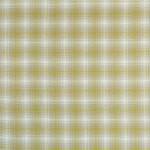 Kahlo Check Citron Fabric by Clarke & Clarke - Decor Rooms