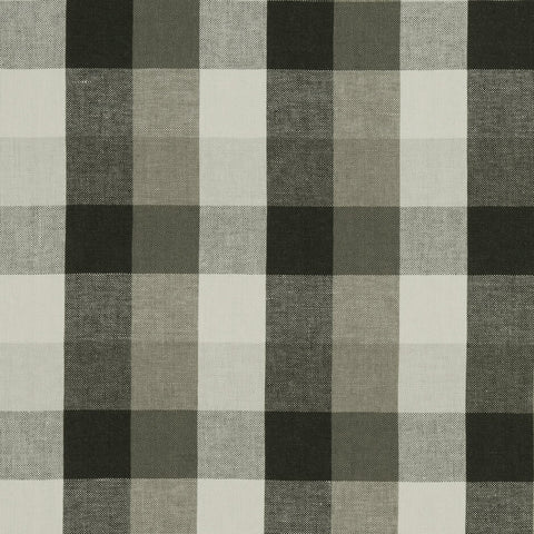 Austin Check Charcoal Fabric by Clarke & Clarke - Decor Rooms