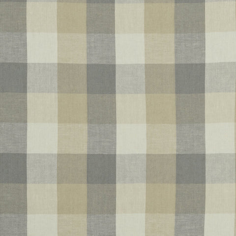 Austin Check Natural Fabric by Clarke & Clarke - Decor Rooms
