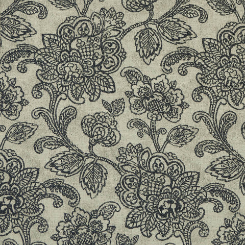Cranbrook Charcoal Fabric by Clarke & Clarke - Decor Rooms