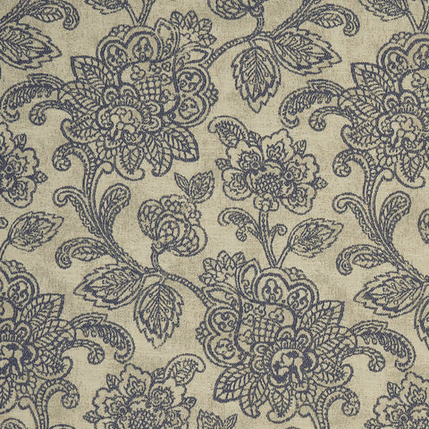 Cranbrook Midnight Fabric by Clarke & Clarke - Decor Rooms