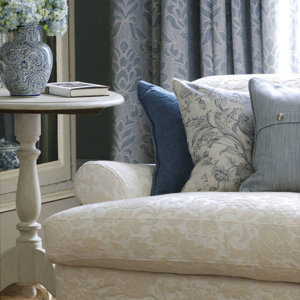Clarke & Clarke Angus - Denim Fabrics - Decor Rooms - 2