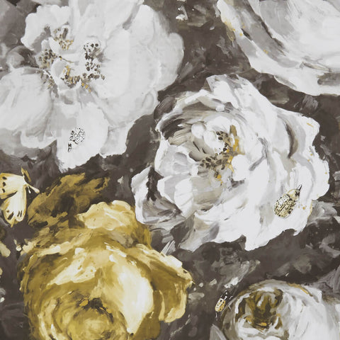 Floratte Charcoal/Antique Wallpaper by Clarke & Clarke - Decor Rooms