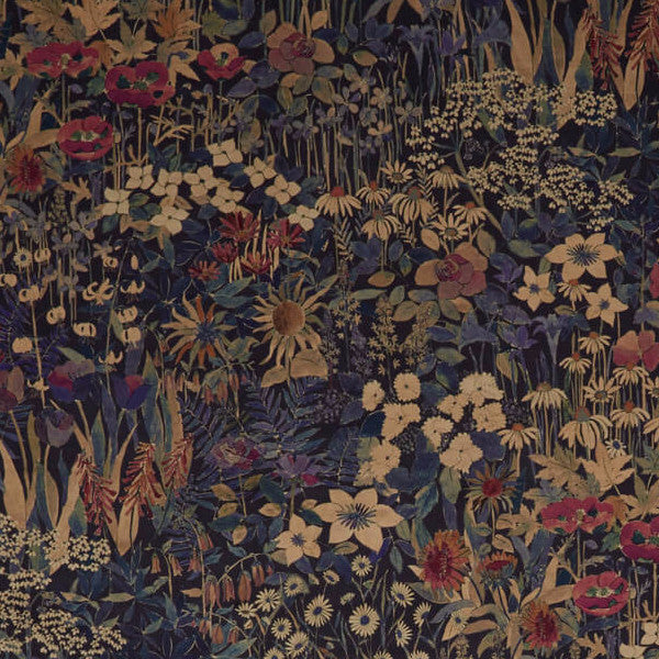 Faria Flowers Blackberry Fabric By Liberty Decor Rooms