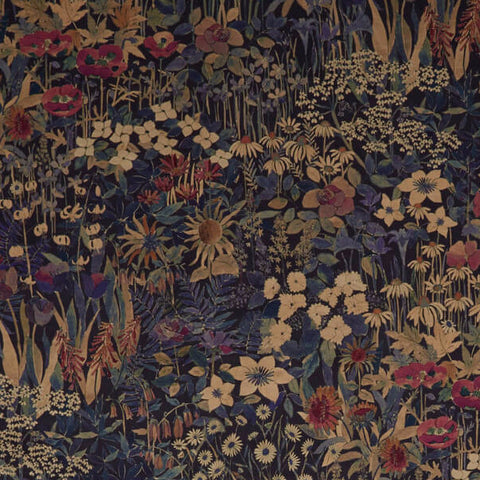 Faria Flowers Fabric in Blackberry by Liberty at Decor Rooms