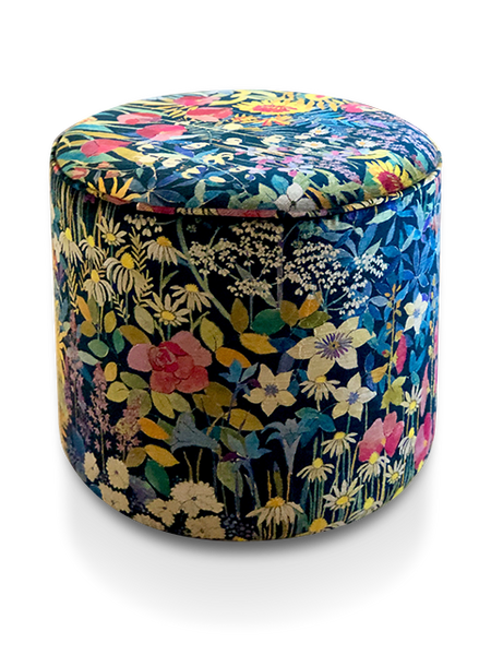 Haytor Footstool with Liberty Faria Flower Fabric