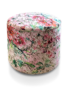 Haytor Footstool with Designers Guild Peony Jichang Fabric