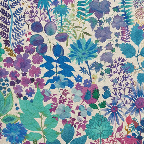 Fresco Lagoon Fabric by Liberty at Decor Rooms