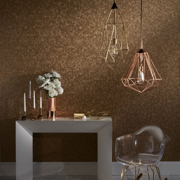 Clarke & Clarke Hexagon - Pewter Wallpaper - Decor Rooms - 2