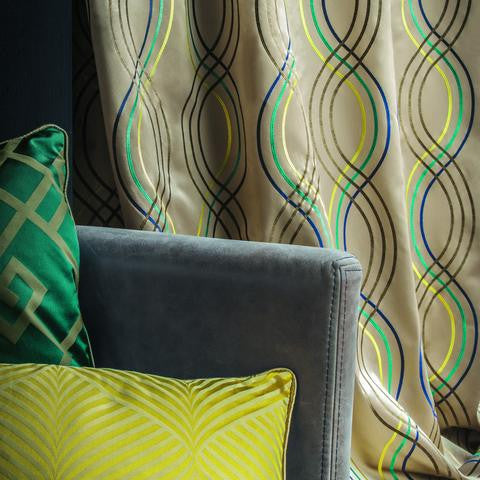 Casamance Santara - Vert Fabric 35910415 Fabrics - Decor Rooms - 2