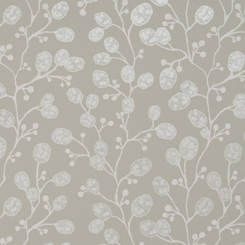 Honesty Ivory/Gold Wallpaper by Clarke & Clarke - Decor Rooms