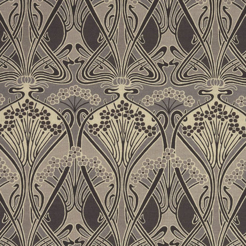 Ianthe Flower Fabric in Graphite by Liberty at Decor Rooms