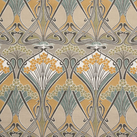 Ianthe Flower Fabric in Dove by Liberty at Decor Rooms