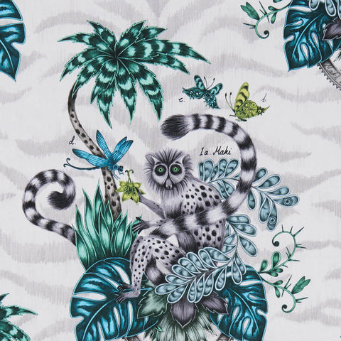Lemur Jungle Fabric by Clarke & Clarke - Decor Rooms