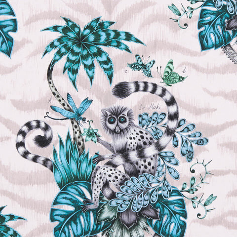 Lemur Pink Fabric by Clarke & Clarke - Decor Rooms