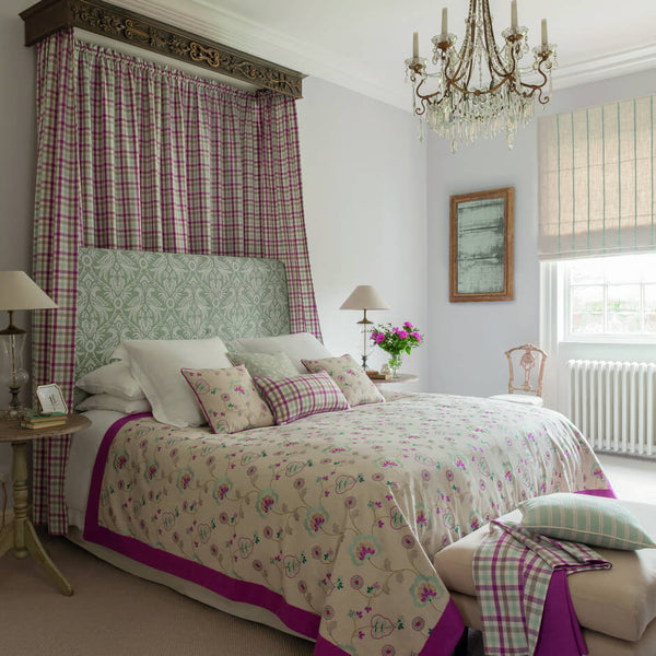 Clarke & Clarke Hatfield - Raspberry Fabrics - Decor Rooms - 2