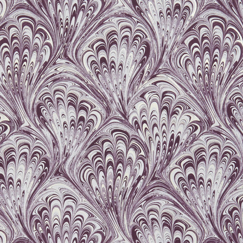 Pavone Amethyst/Gilver Wallpaper by Clarke & Clarke - Decor Rooms