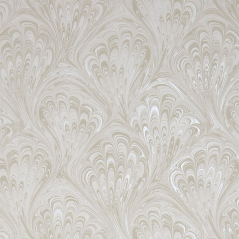 Pavone Ivory/Pearl Wallpaper by Clarke & Clarke - Decor Rooms