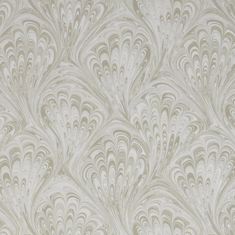 Pavone Taupe/Gilver Wallpaper by Clarke & Clarke - Decor Rooms