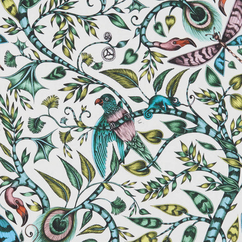 Rousseau Jungle Fabric by Clarke & Clarke - Decor Rooms