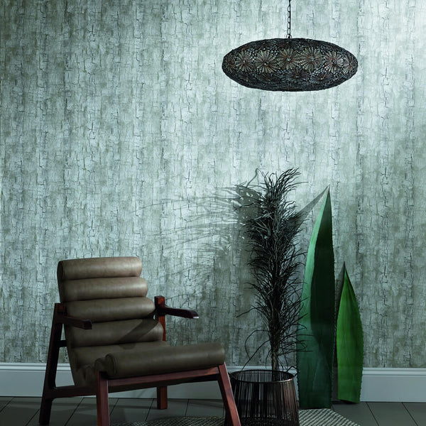 Clarke & Clarke Treebark - Pearl Wallpaper - Decor Rooms - 2