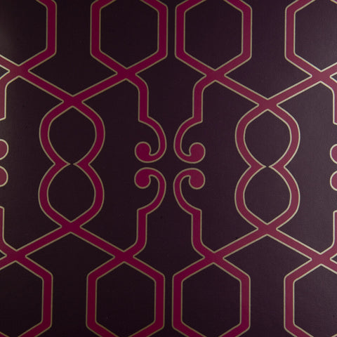 Clarke & Clarke Augustus - Damson Wallpaper - Decor Rooms - 1