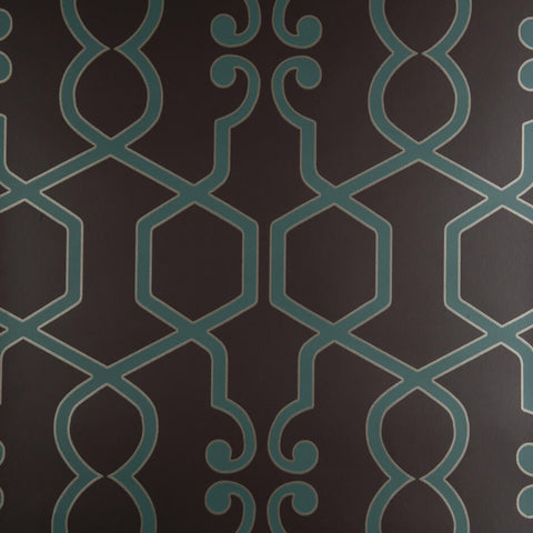 Clarke & Clarke Augustus - Teal Wallpaper - Decor Rooms - 1