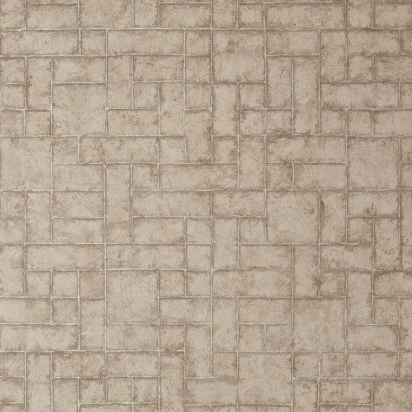 Clarke & Clarke Sandstone - Taupe Wallpaper - Decor Rooms - 1