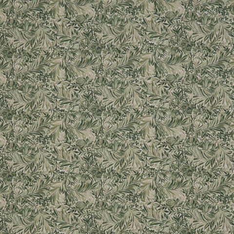 Wallace Secret Garden Fabric in Green by Liberty at Decor Rooms