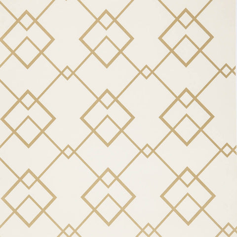 Yalta Wallpaper in Gold by Wemyss - Decor Rooms