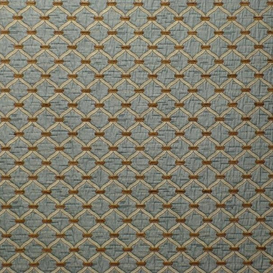 Agra Blue Walnut Fabric by Jim Dickens at Decor Rooms