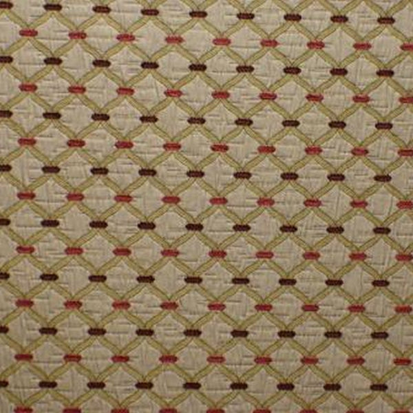 Agra Cranberry Fabric by Jim Dickens at Decor Rooms