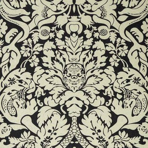 Colony Collections - Valentina Ebony Wallpaper by Clarke & Clarke - Decor Rooms