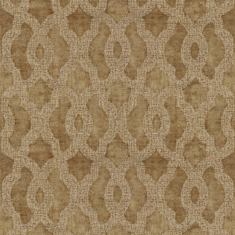 Acanthus Bronze Pattern Fabric by Jim Dickens at Decor Rooms