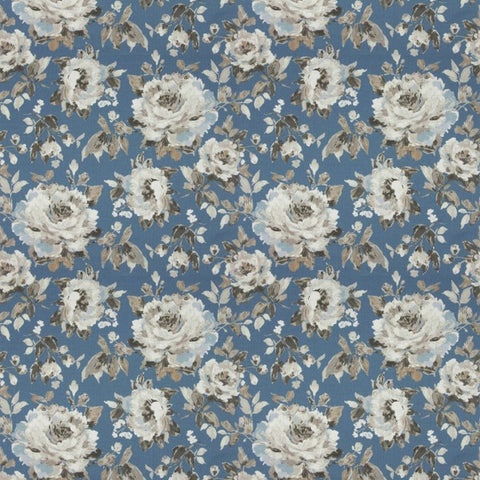 Carousel Bloom Blue Fabric by Jim Dickens at Decor Rooms