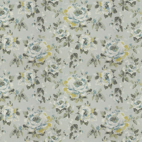 Carousel Bloom Teal Fabric by Jim Dickens at Decor Rooms
