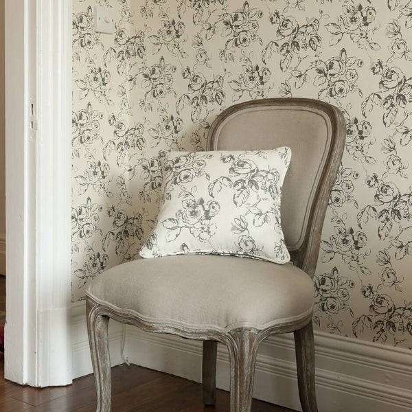 Clarke & Clarke Delphine - Charcoal Fabrics - Decor Rooms - 2