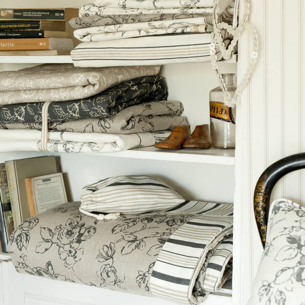 Clarke & Clarke Marie - Charcoal Fabrics - Decor Rooms - 2