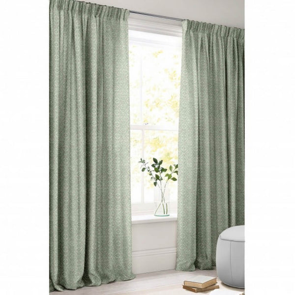 Curtains made with Tala Pistachio Fabric by Jim Dickens | Decor Rooms
