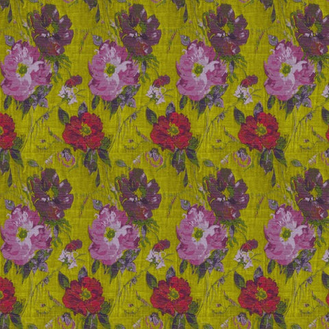 Constance Camomile Lawn Fabric by Jim Dickens at Decor Rooms