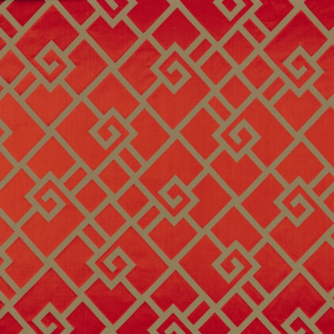 Casamance Holika - Rouge Fabric 35930134 Fabrics - Decor Rooms - 1